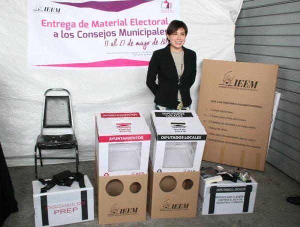 DISTRIBUCION DE MATERIAL ELECTORAL
