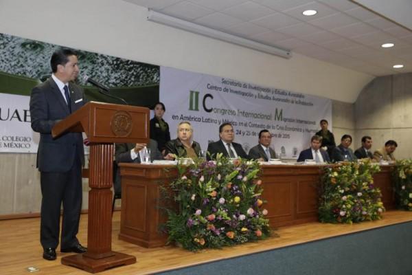 INAUGURA CONGRESO DE MIGRACION JOG