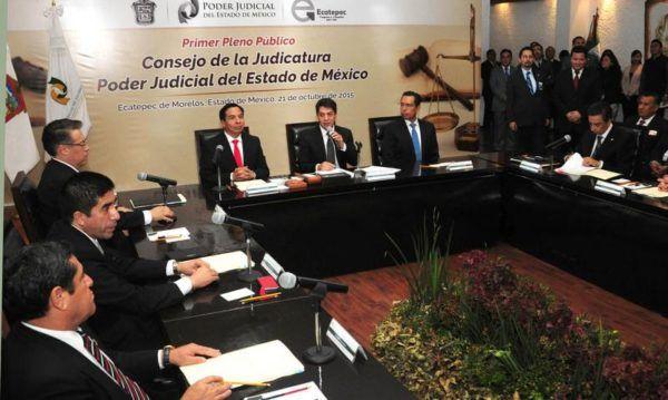 CONSEJO DE LA JUDICATURA SESIONA FUERA DE TOLUCA
