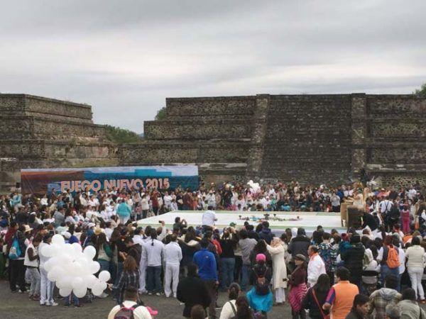 ENCENDIDO DEL FUEGO NUEVO EN TEOTIHUACAN