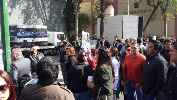 ROCIO PEDRAZA PROTESTA CONTRA ZAMORA