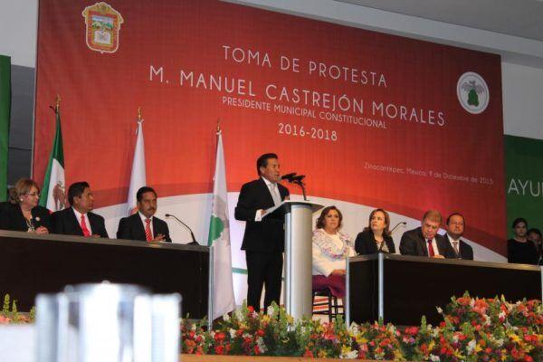 TOMA DE PROTESTA DE MANUEL CASTREJON