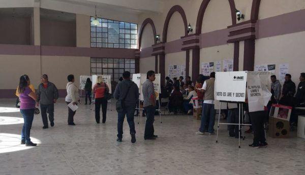 VOTANTES EN ELECCION EXTRAORDINARIA DE CHIAUTLA