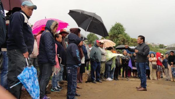 Estos trabajos iniciados por Manuel Castrejón Morales, alcalde de Zinacantepec, benefician a más de 400 habitantes directamente