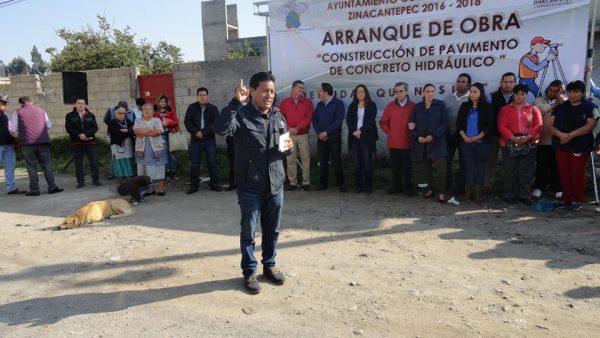 Más obras en las comunidades de San Matías Transfiguración, San Cristóbal Tecolít y San Luis Mextepec