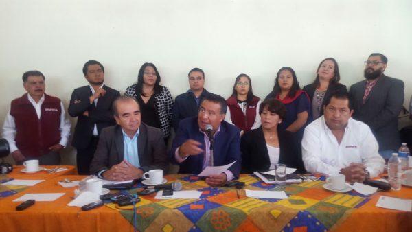 El Comité Estatal de Morena inicia sus trabajos designando a su diputada federal Delfina Gómez como Promotora de la Soberanía Nacional