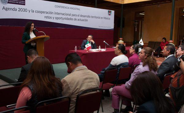 """La Contraloría del Poder Legislativo organizó la conferencia """"Agenda 2030 y la cooperación internacional para el desarrollo territorial en México: retos y oportunidades de actuación""""."""