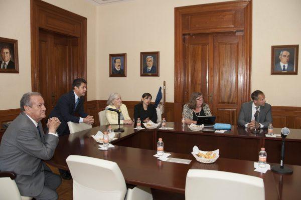 El presidente del Tribunal Superior de Justicia, Sergio Medina Peñaloza recibió a una delegación canadiense de la Universidad de Ottawa y del Instituto Nacional Judicial.