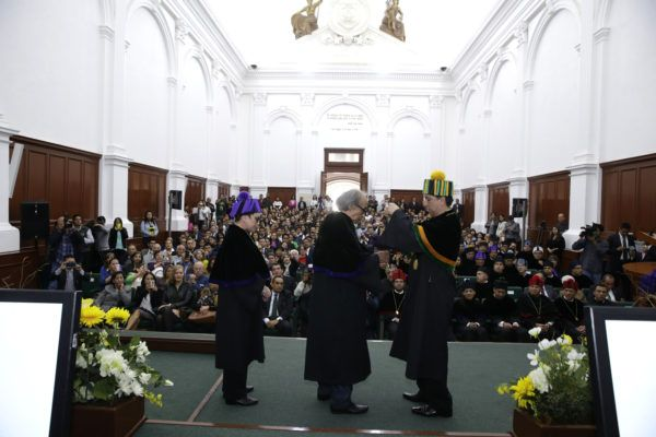 Es un acto de justicia, por sus múltiples aportes en el ámbito intelectual, por la agudeza de su pensamiento y capacidad inquisitiva, afirmó el rector Jorge Olvera García.
