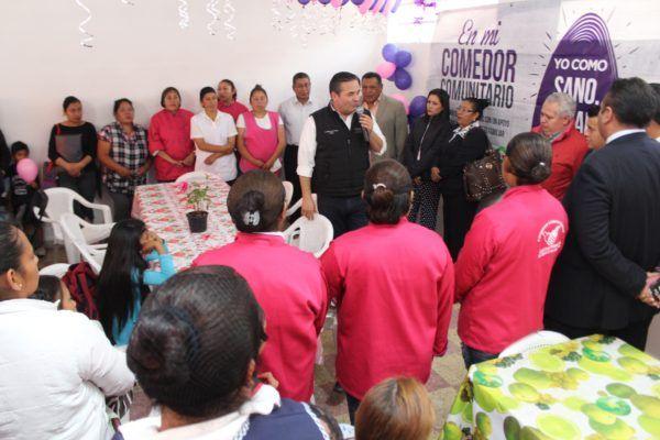 Celebran aniversario de comedores comunitarios en Capulhuac