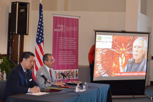 Estos lazos permitirán a la institución mexiquense extender los servicios que presta a los migrantes mexicanos que radican en los Estados Unidos, afirmó el rector Jorge Olvera García.