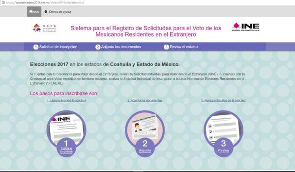 Para ejercer su voto, se podrán registrar en el Sistema para el Registro de Solicitudes para el Voto de los Mexicanos Residentes en el Extranjero que está disponible en la página del IEEM (www.ieem.org.mx).